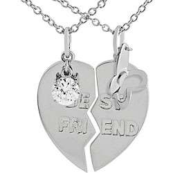 Sterling Silver 2 piece Best Friend Necklace
