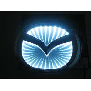 2012 New style Auto 3D White Led car logo badge light for