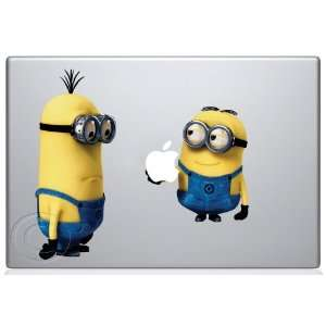 Despicable Me Minion holding Apple Macbook Decal skin