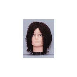 Hairart Mens Mannequin with Human Hair in Black #84md by Hair Art