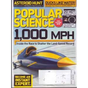 Oct 2009 *POPULAR SCIENCE* Magazine: Featuring, 1000 MPH