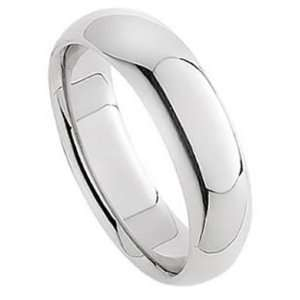 7.0 Millimeters White Gold Heavy Wedding Band Ring 14Kt