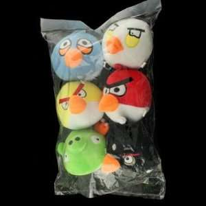 Angry Birds 6pcs 5 inch iPhone Game Plush Toys Window