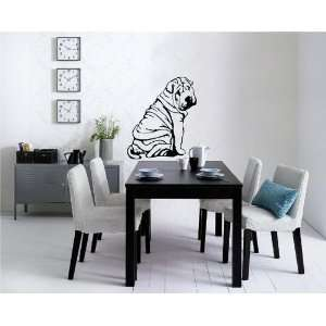 Sharpei Cute Super Funny Puppy Dog Wall Mural Vinyl Decal