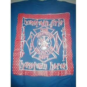 Hometown Girls love their Hometown Heros Blue T Shirt