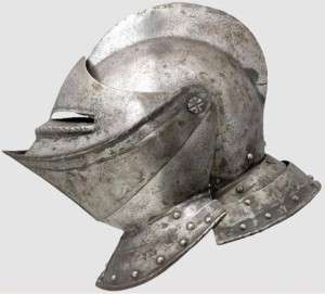 Authentic 1560 AD Knight Medieval Jousting helmet plate armor armour
