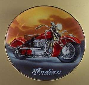 1942 INDIAN 442 Motorcycle Plate Franklin Mint SHARP!
