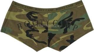 Womens Military Army Booty Mini Shorts