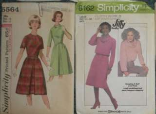 LOT 10 VINTAGE WOMENS SIZE 18 CLOTHING SEWING PATTERNS BLOUSES