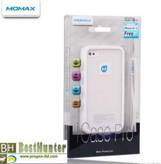 Momax iCase Pro Soft TPU Case Cover Shell iPhone 4 4s w Screen