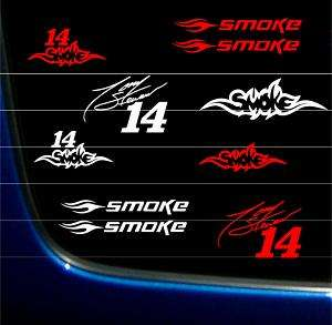 TONY STEWART SMOKE 14 STICKER DECAL VINYL GRAPHICS SHR