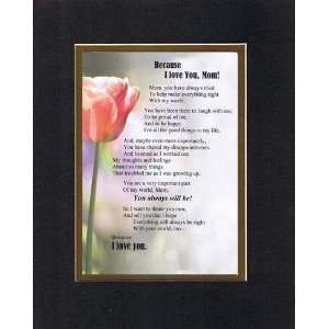 Touching and Heartfelt Poem for Mothers   Because I Love You Mom Poem