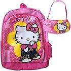HELLO KITTY Backpack School Bag + Purse Pink Girl NWT