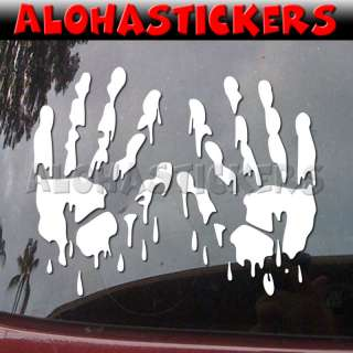 BLOODY ZOMBIE HANDS Vinyl Decal Blood Car Sticker E74