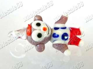 wholesale 50x cute monkey murano glass beads pendants