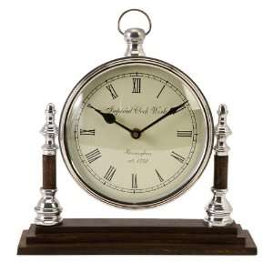Watch Mantel Shelf Clock with Roman Numeral Face