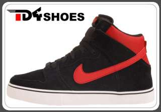 Nike 6.0 Dunk High LR Black Varsity Red New 2012 Mens Casual Shoes