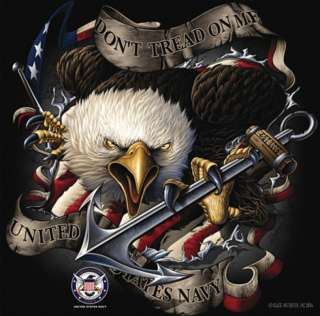 US NAVY USN SCREAMING EAGLE DONT TREAD ON ME T SHIRT