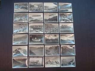 24 Zeppelin airship views cards of Switzerland journey 1933