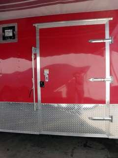 NEW 8.5 X 24 RED ENCLOSED TRAILER CAR BIKE TOY EVENT ATV HAULER