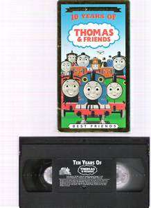 Collectors 10 YEARS OF THOMAS & FRIENDS VHS Video CHILD