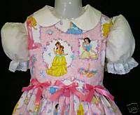 Disney Princess w/Frame Pink Dress Set Sz 12M 10yrs