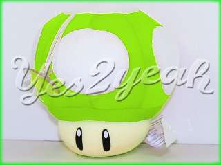9CM Super Mario Bros Mushroom Green Plush Soft Toy 1196