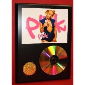 Pink 24kt Gold Cool Music Art CD Disc Display   Musician Art   Award