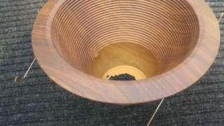 Custom Designer Wood Grain Recessed Can Light Trim