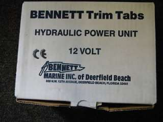BENNETT TRIM TAB KIT WITH 12 VOLT HYDRAULIC PUMP MARINE BOAT