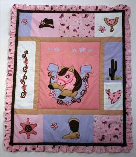 Baby Boutique  Western Cowgirl 14 PCS Crib Bedding L