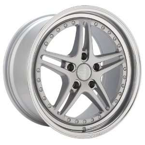 17x8 Privat Rivale (Silver w/ Machined Lip) Wheels/Rims