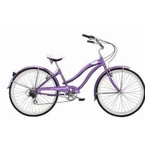 Ladies 7 Speed Beach Cruiser Bicycle   Rover   White