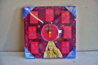 New Disney Hannah Montana Miley Cyrus Collage Photo Frame Clock FREE