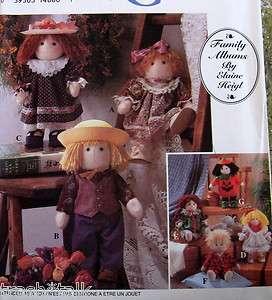 Soft Sculpture cloth felt doll & clothes pattern Elaine Heigl boy 12