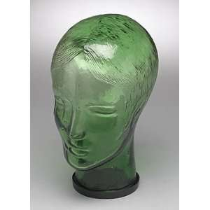 Brand New Green Glass Lady Woman Mannequin Head