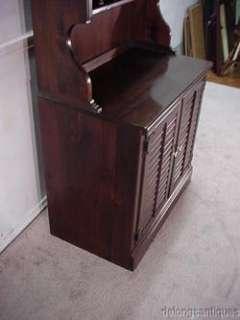 19586Ethan Allen Pine Bookcase Cabinet