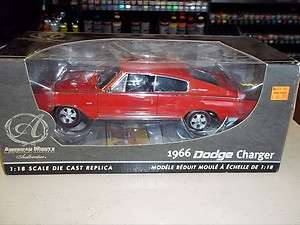 RC2/AMERICAN MUSCLE 1966 DODGE CHARGER 1/18 DIE CAST 39319 (RED