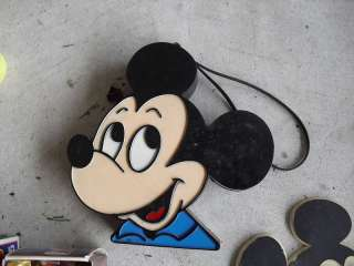 Vintage Plastic Mickey Mouse Head Radio LOOK
