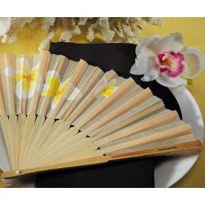 Wedding Star 9146 Tropical Fan with Romantic Plumeria