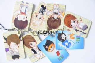 SUPER JUNIOR CARTOON Mobile Cell Phone Strap Keyring N4