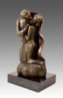 AMAZING MODERN ART BRONZE THE KISS SIGNED GUSTAV KLIMT