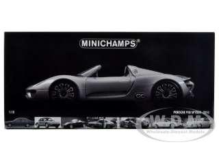 car of 2010 Porsche 918 Spyder Concept Grey Metallic die cast car