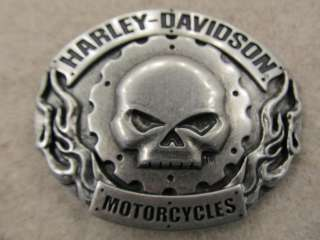 Harley Davidson Motorcycles Skull Belt Buckle