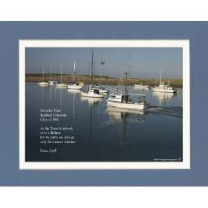 Personalized Graduation Gift with Graduate Quote. Boats Sailing Photo
