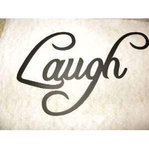 Laugh Word Metal Wall Art Home Decor