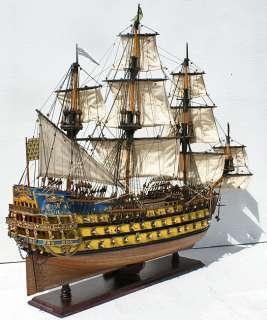 ROYAL 32 French wood model ship tall sailing wooden boat