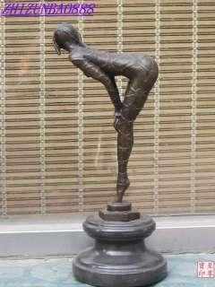 13.5Western Art Bronze Marble stoop down Hip Training Ballet feet