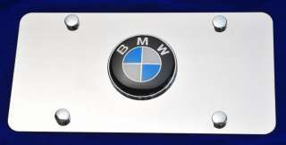 BMW Logo on Stainless Steel License Plate