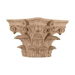 Capital for a 6 Round Tapered Wood Column, Mahogany Home Improvement